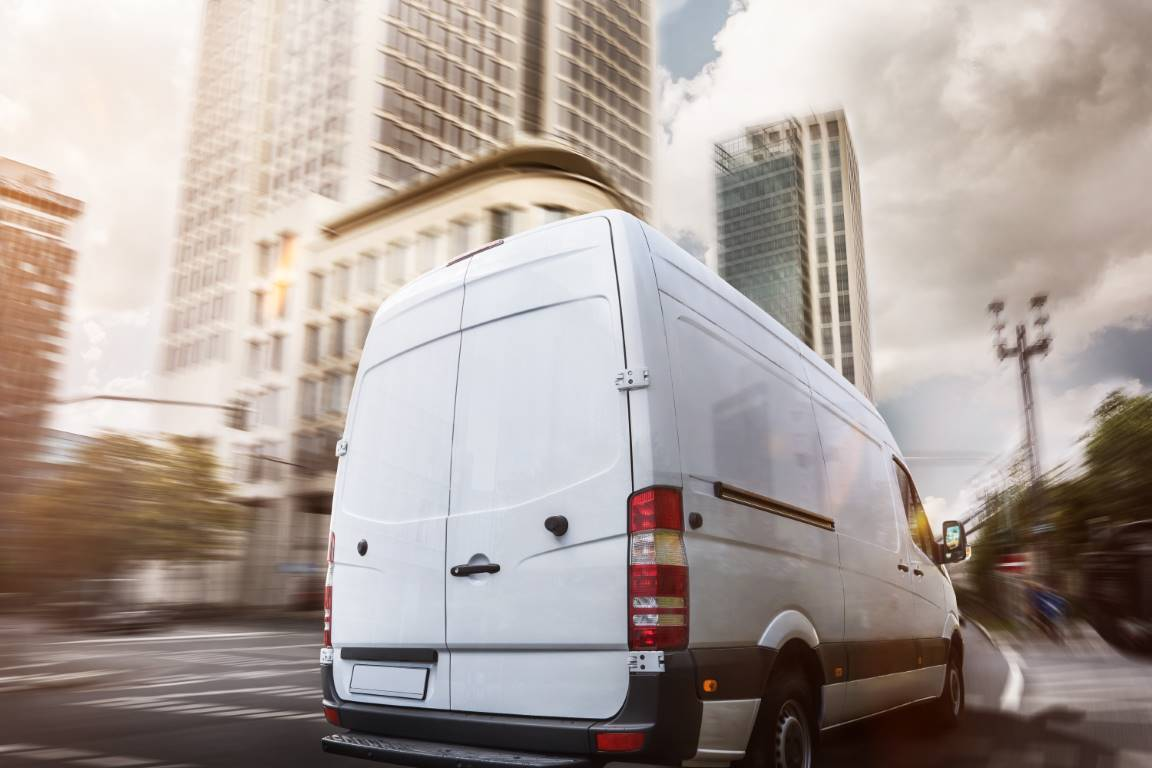 Van in City